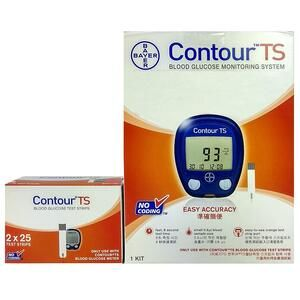 Buy Bayer Contour TS Blood Glucometer Combo, 50 Strips