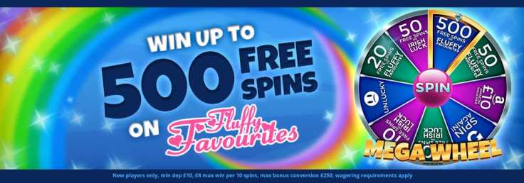 Play and Get 500 FREE Spins on Fluffy Favorites on Lady Love Bingo – Lady Love Bingo