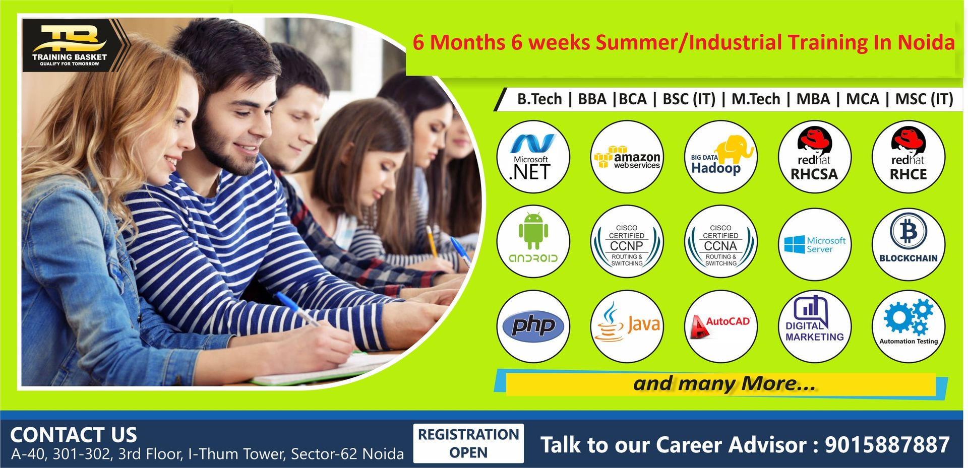 Industrial training in Noida-6 Months Industrial Training with Live project