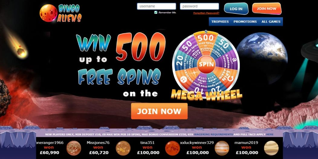 Bingo Aliens | Win Up To 500 Free Spins on Fluffy Favourites!