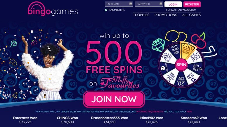Play casino with Bingo games free spins offers
