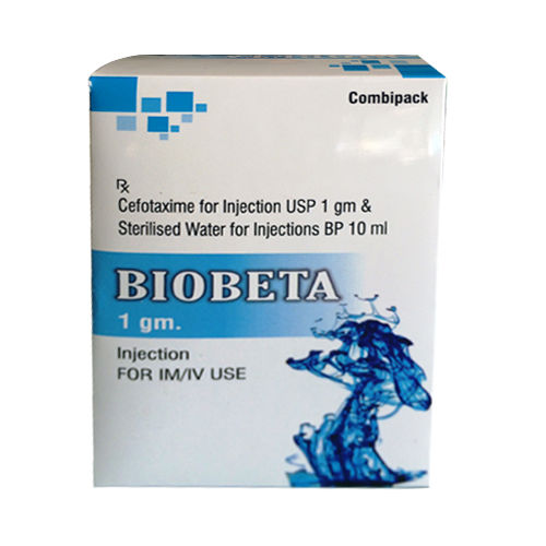 Biobeta Injection, Cefotaxime For Injection Usp 1Gm - Schwitz Biotech