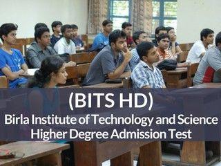 BITS HD 2019 - Notification, Application Form, Dates, Syllabus, Pattern