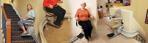 A Disabled Stair Lift Restores The Ability to Go Up Stairs
