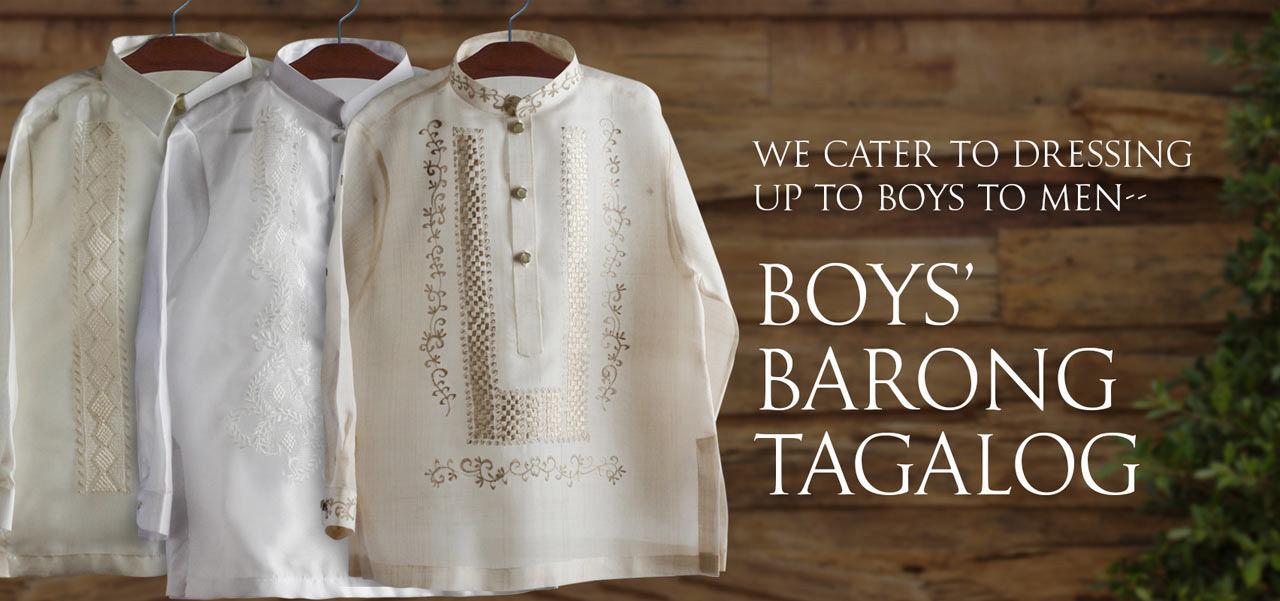 Chinese Barong Tagalog for Boys, Barong Tagalog