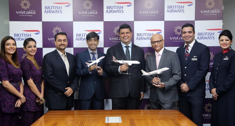 British Airways and Vistara celebrate commencement of their first codeshare flight from India – ACAAI NEWS
