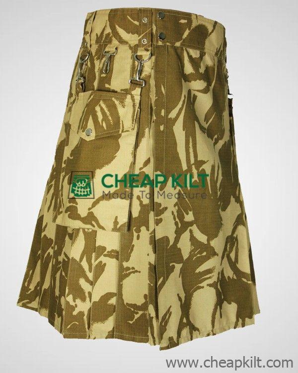 Custom Made British Military Camo Kilt for Men