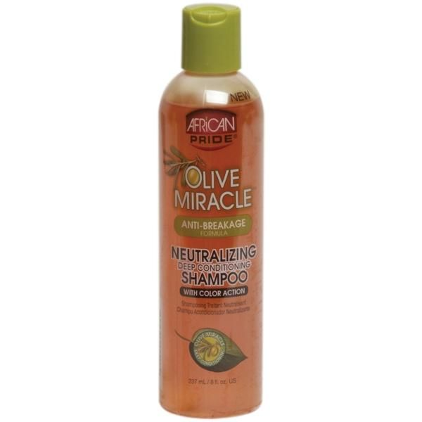 Shop Online African Pride Olive Miracle Anti-Breakage Neutralizing Deep Conditioning Shampoo