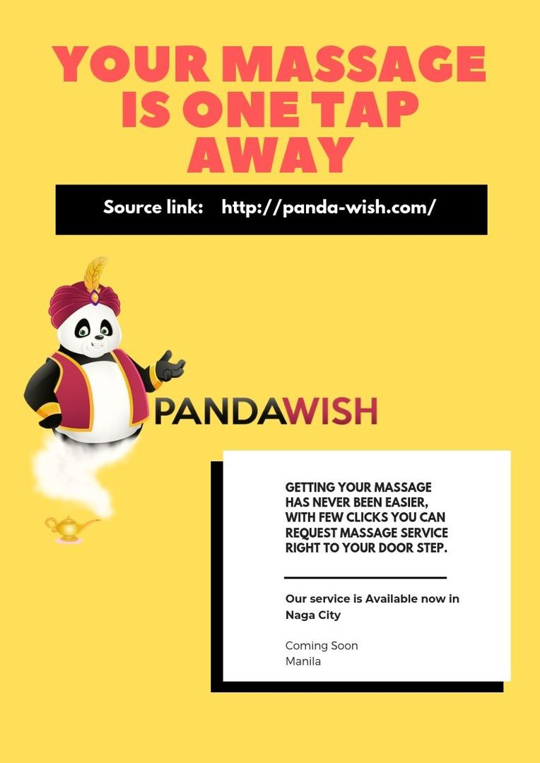 By Panda Wish Your Massage is One Tap Away