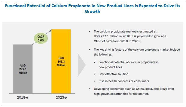 Calcium Propionate Market by Application & Region - Global Forecast 2023 | MarketsandMarkets