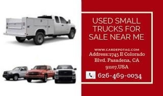 Used small trucks for sale near me