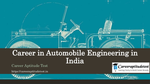 Career in automobile engineering in india