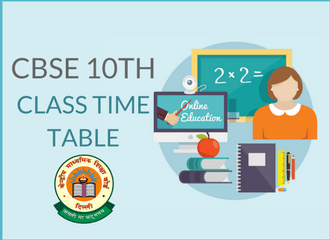 CBSE 10th Class Time Table 2019- Download PDF