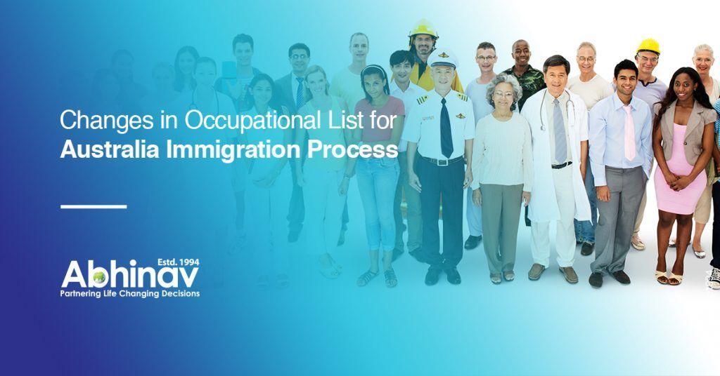 Changes in Occupational List for 2020 Australia Immigration Process