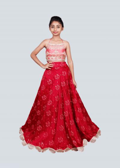 Designer Wear Lehengas For Kids | Buy Lehenga Choli for Kids Online