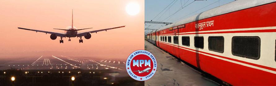 MPM Air Ambulance Services in Srinagar at very affordable cost