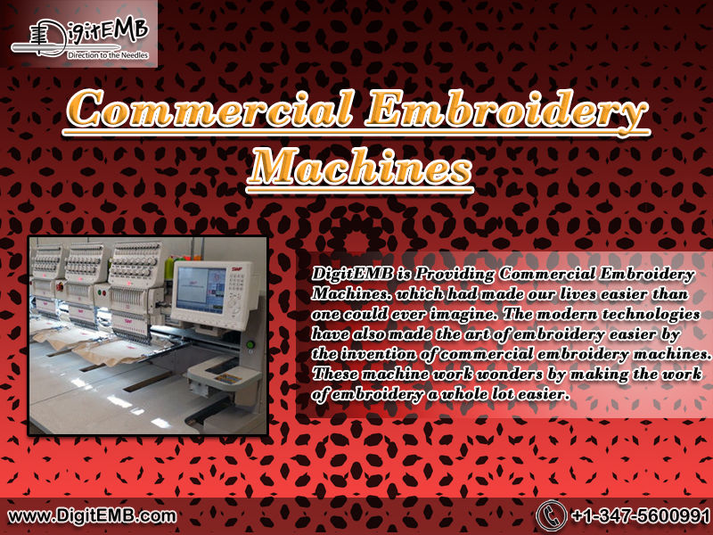 Commercial Embroidery Machines