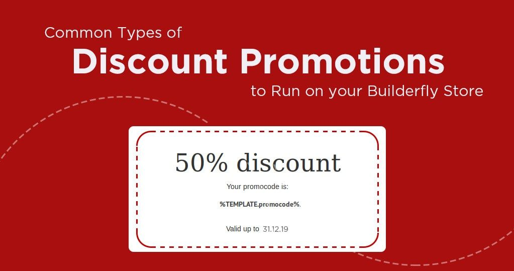 Common Types of Discount Promotions to Run on Builderfly Store