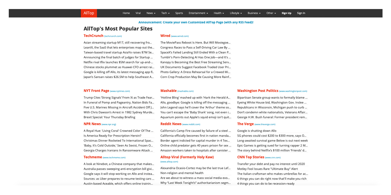 Seven Great Content Aggregator Websites & How to Build One