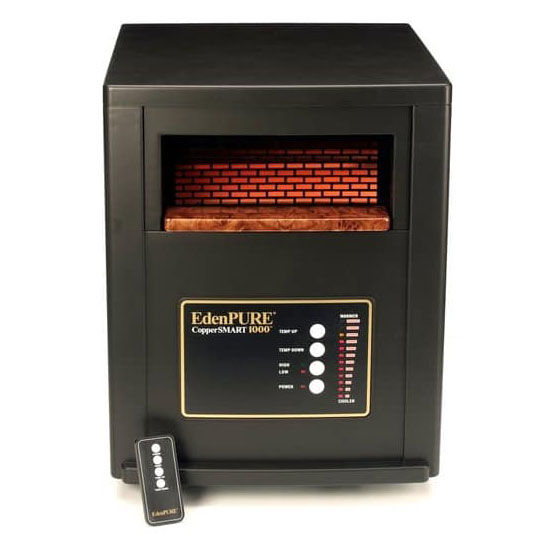 EdenPURE CopperSMART 1000 Infrared Portable Heater