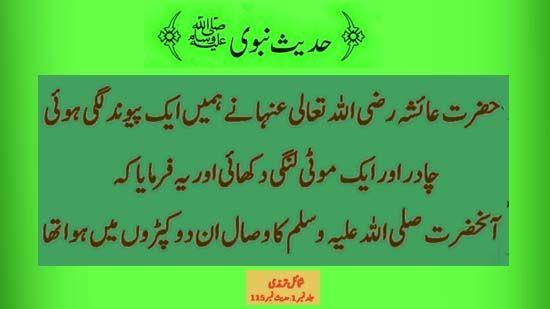 Hadees-e-Nabvi in Urdu Prophet Hadees-e-Nabvi in Urdu Prophet saying in Urdu