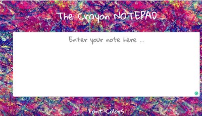 The Crayon Notepad: Color your notes with Crayon Notepad