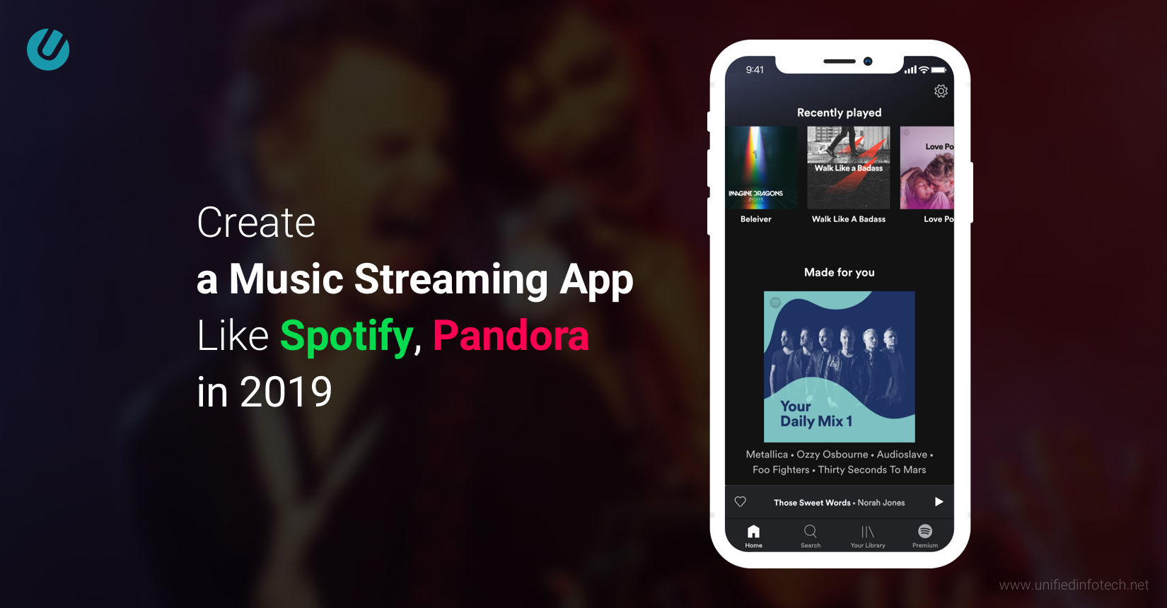 Roadmap to Create a Music Streaming App like Spotify | Unified Infotech