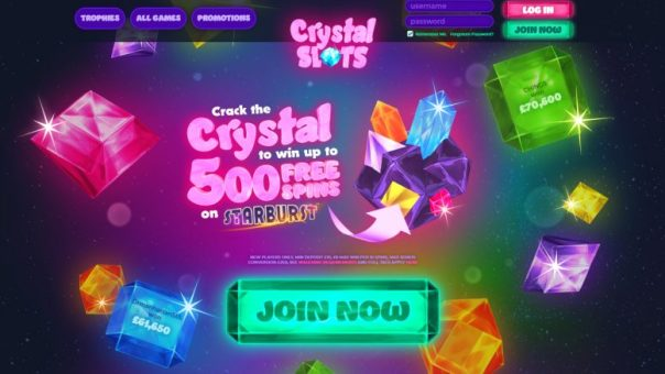 Get Prime winning amount with Crystal slots   All New Slot Sites UK