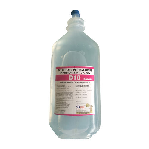 D10 500 Ml Infusion, Dextrose Intravenous Infusion 10% Bp - Schwitz Biotech