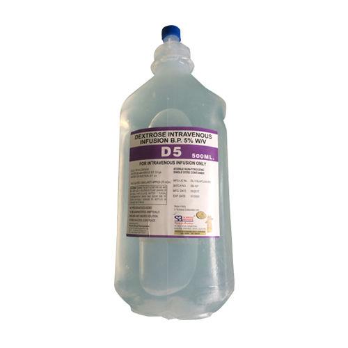 D5 500ml Infusion, Dextrose 5 W/V Intravenous Infusion Bp - Schwitz Biotech