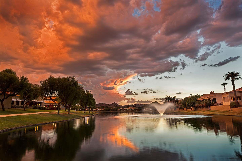 Beautiful Pond Aeration