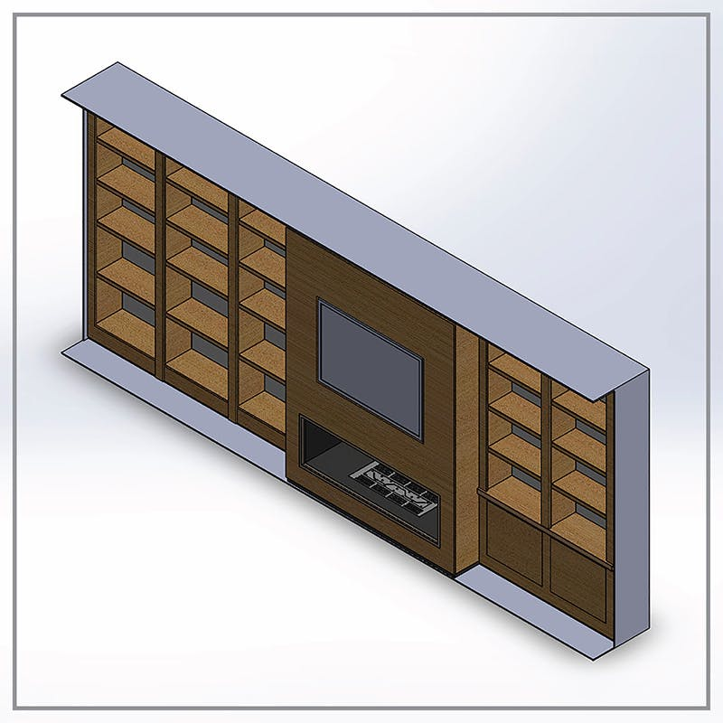 Architectural Millwork Drafting for Modernize Living-Room Furniture | TrueCADD | Archinect