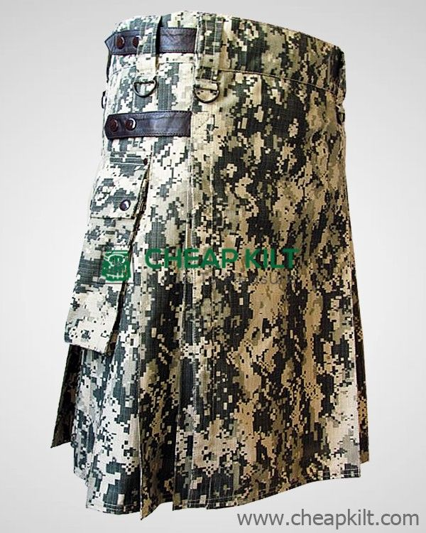 Contemporary Digital Camo Tactical Kilt for Men