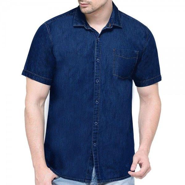 Half sleeve denim shirt