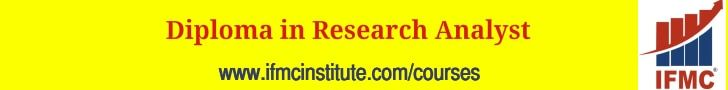IFMC-Research Analyst Course in Delhi for Stock Market & Share Trading with NSE NCFM SEBI & NISM Certifications