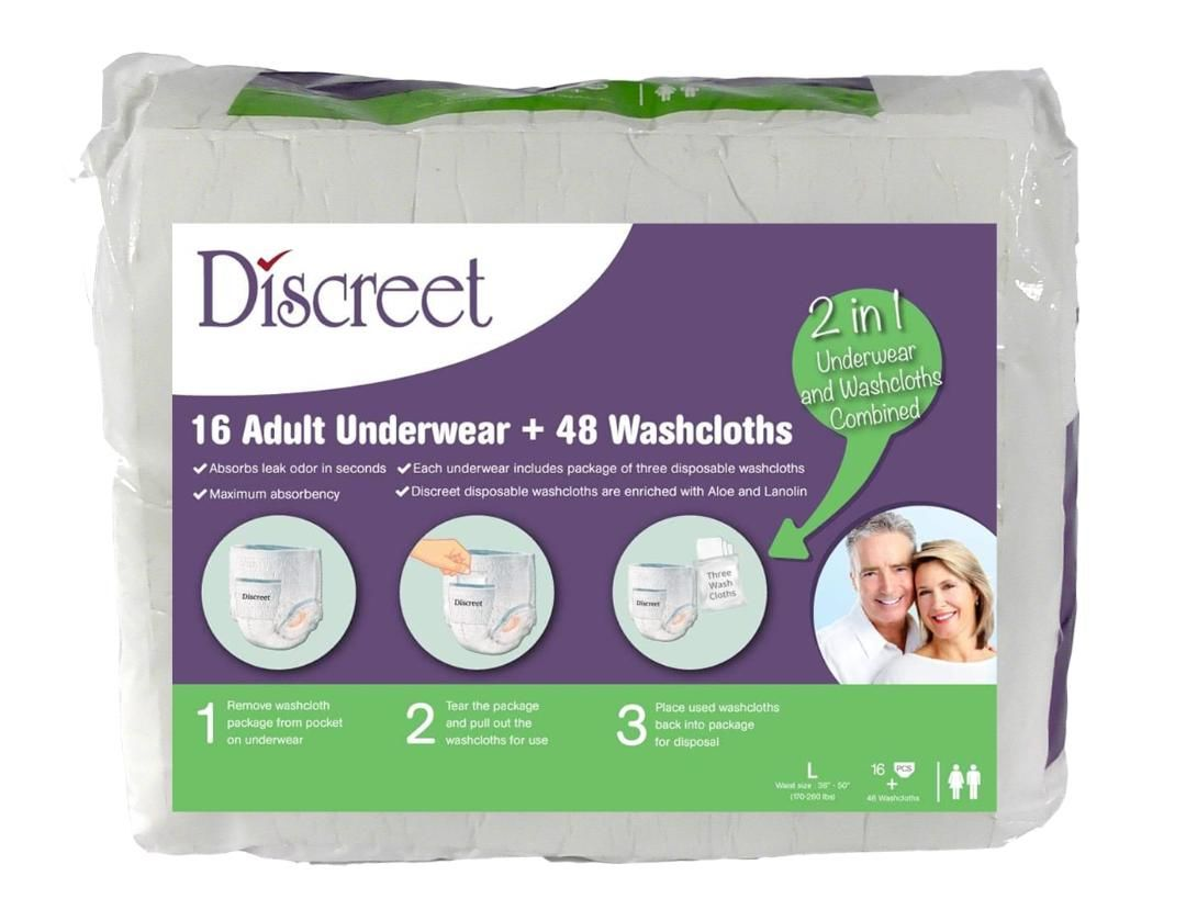 Buy Discreet adult diapers pack of 16 - The Go Fresh Group