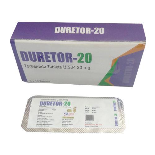 Duretor-20 Tablet, Torsemide Tablet Usp 20 Mg - Schwitz Biotech