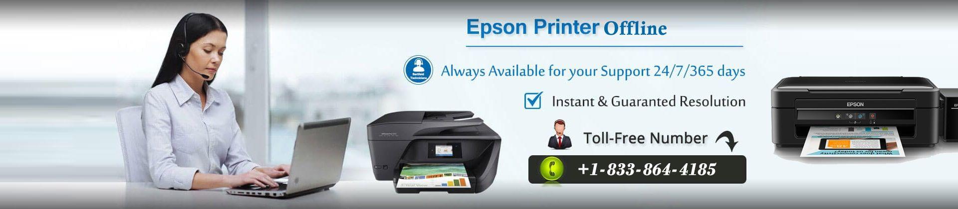 Epson Printer Offline |+1 833 864 4185 | Epson Printer Tech Support