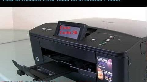 Brother Printer Error Code 36