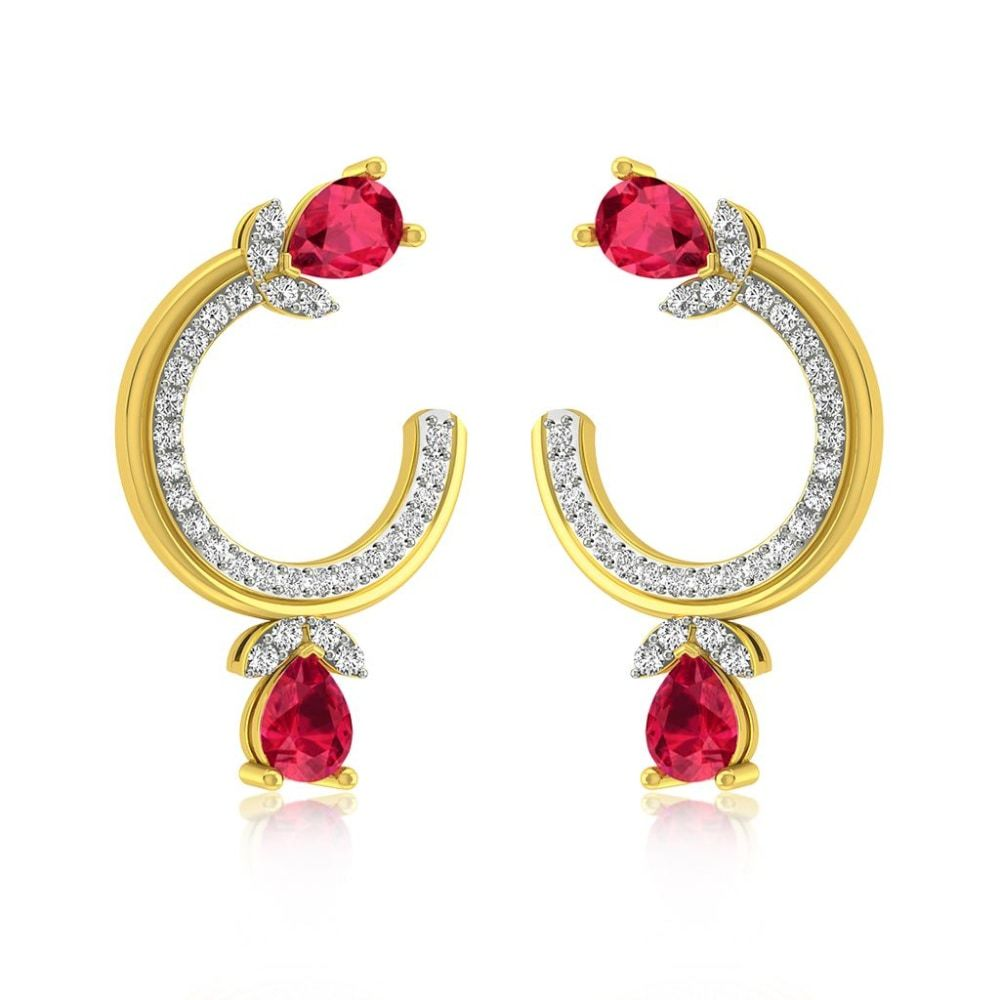 Buy Hoops and Balis Earrings Designs Online Starting at Rs.11690 - Rockrush India