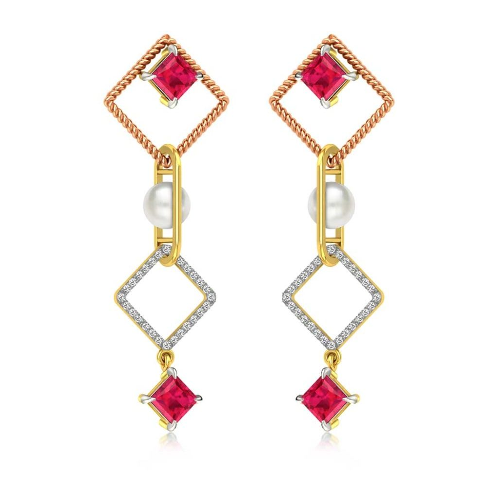 Buy Gemstone Earrings Designs Online Starting at Rs.10014 - Rockrush India