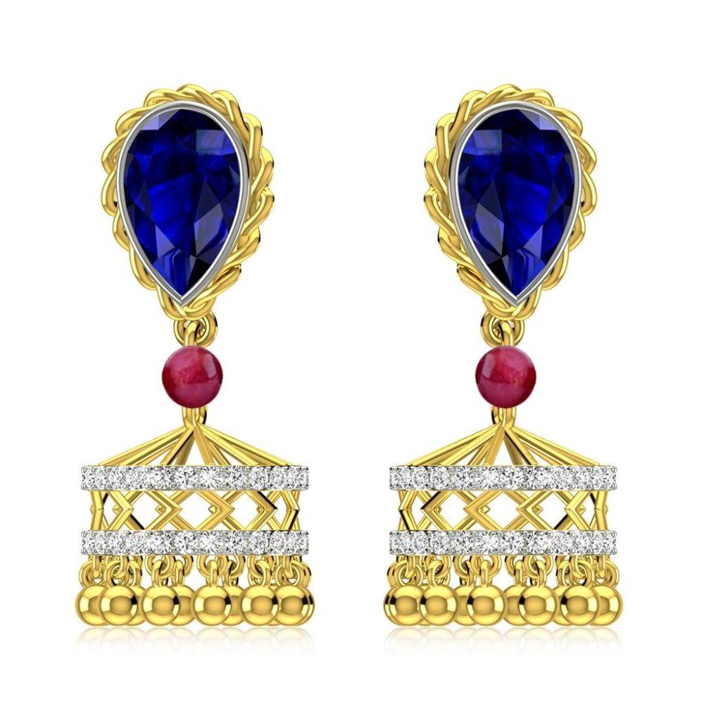 Buy Jhumkas Earrings Designs Online Starting at Rs.21689 - Rockrush India
