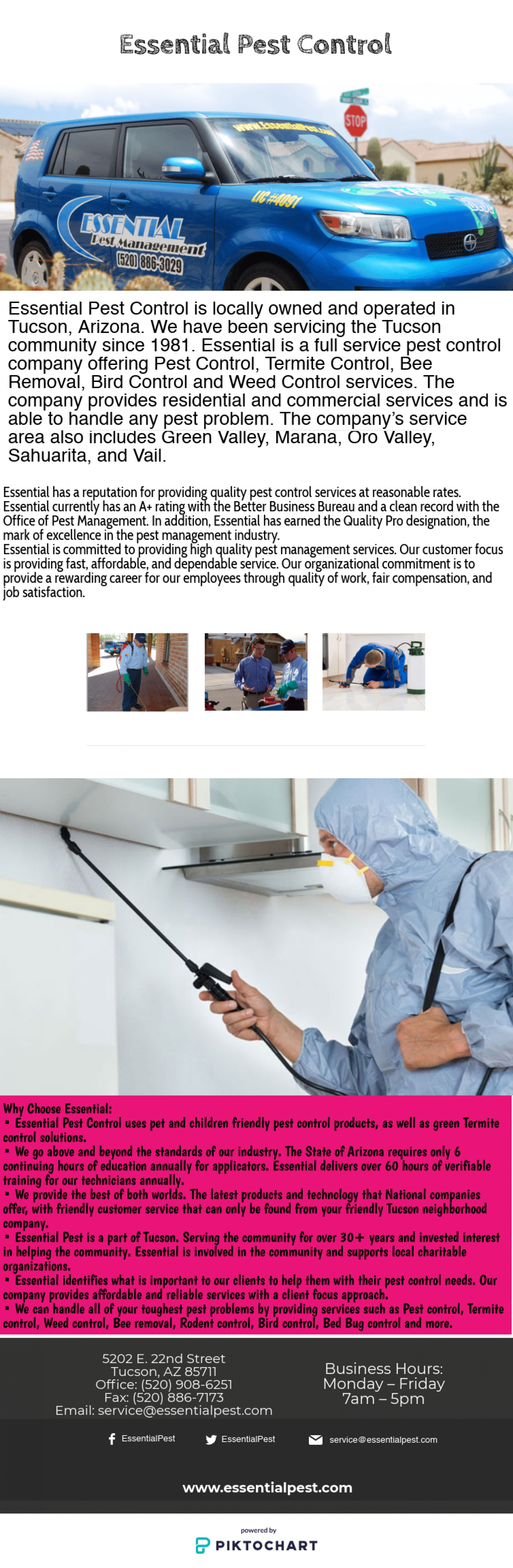 Essential Pest Control | Specialists in Pest Control Tucson | Visual.ly