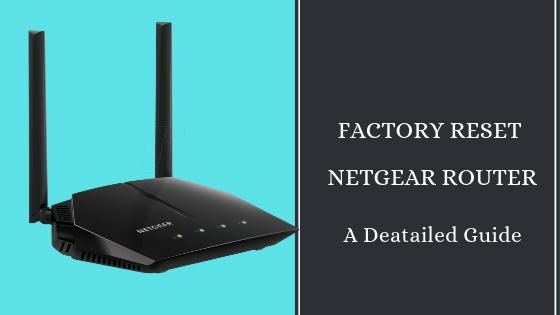 Reset Netgear Router