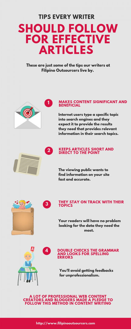 Filipino Outsourcers|TIPS FOR  EVERY WRITER SHOULD FOLLOW FOR EFFECTIVE ARTICLES | Visual.ly