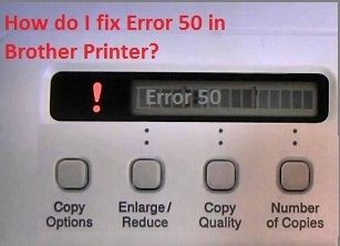 Fix Brother Printer Error 50