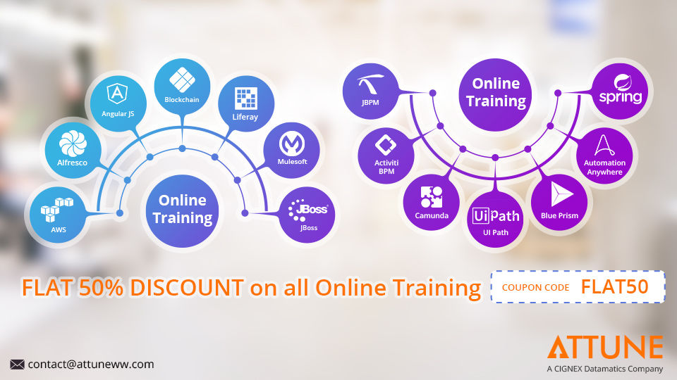 Attune offering FLAT 50% OFF on Online Training