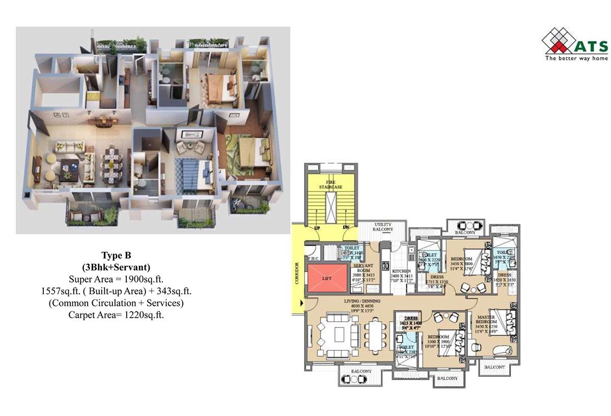 ATS Destinaire Noida Extention Floor Plan
