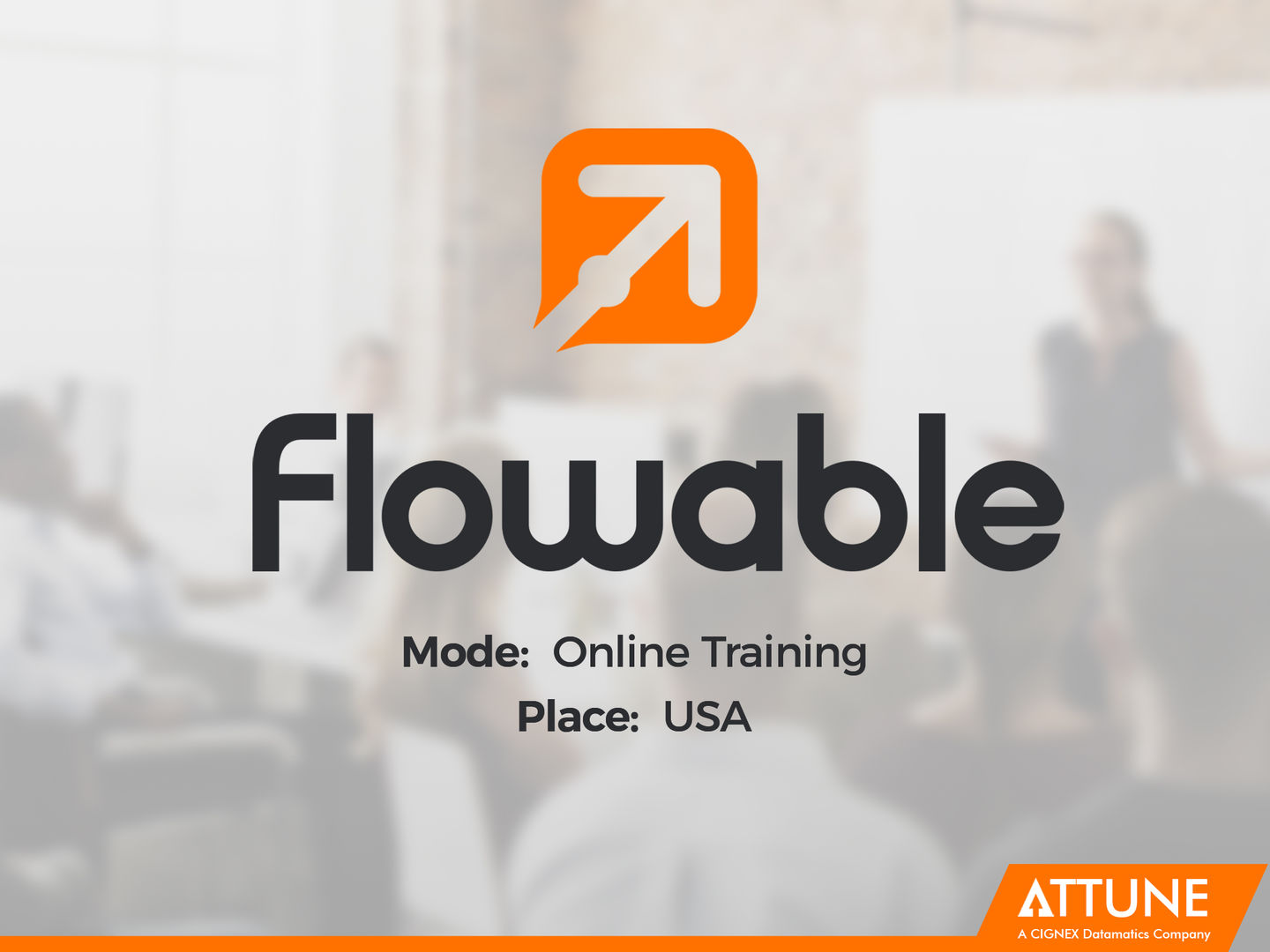 Attune successfully delivered Flowable Training Online to USA