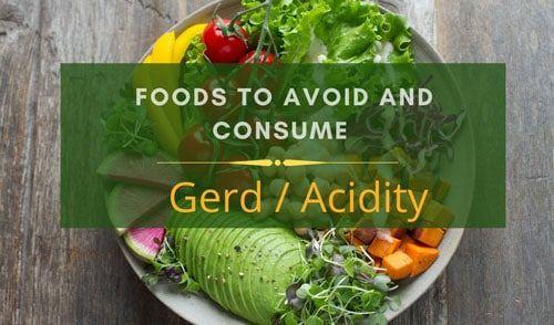 Diet Chart for GERD (Acid Reflex)- Healthy Food for Acidity